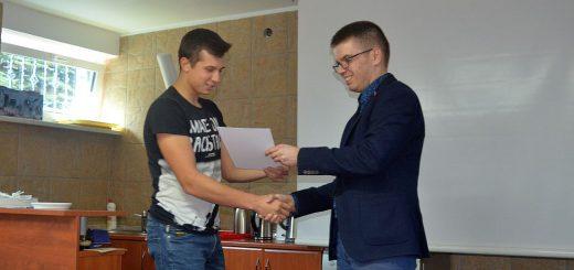 Wręczanie certyfikatów przez przedstawiciela firmy Galmet